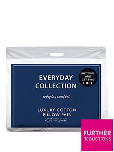 Everyday Collection Pure Cotton Pillows – Buy 2 get 2 FREE!
