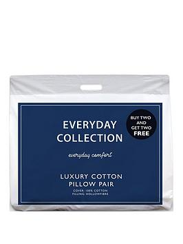 Everyday Collection Pure Cotton Pillows &Ndash; Buy 2 Get 2 Free!