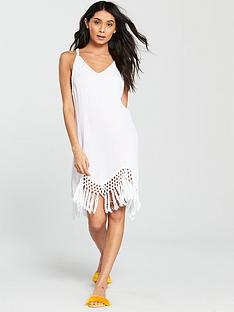 v-by-very-tassel-hem-beach-dress