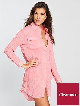 v-by-very-tie-up-side-beach-shirt-coral-pinknbsp