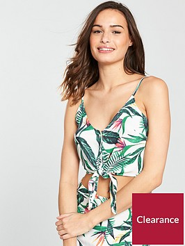 v-by-very-co-ord-button-through-beach-top