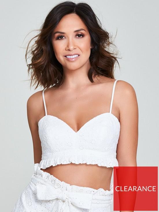 2468528949 Myleene Klass Broderie Anglais Bralette Top - White