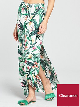 v-by-very-co-ord-button-through-maxi-beach-skirt