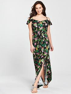 v-by-very-frill-bardot-jersey-maxi-dress