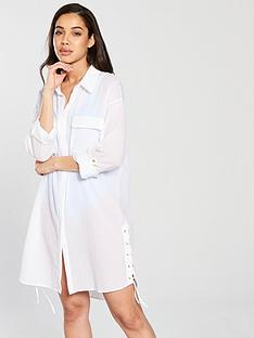v-by-very-tie-up-side-beach-shirt-white
