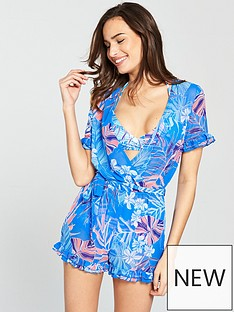 v-by-very-sheer-wrap-over-frill-trim-beach-playsuit