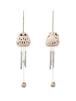 ceramic-snowy-owl-wind-chime