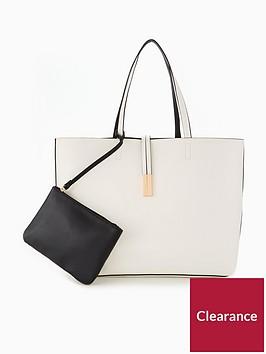 v-by-very-reversible-contrast-shopper-whiteblack