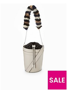 v-by-very-faux-fur-strap-drawstring-bucket-bag-grey
