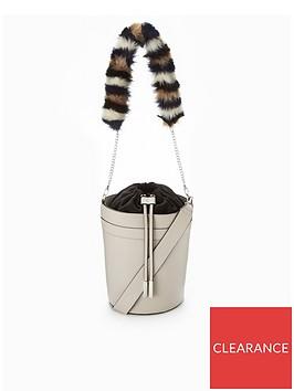 v-by-very-faux-fur-strap-drawstring-bucket-bag-grey