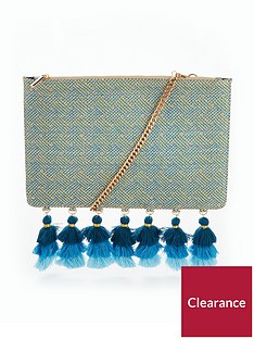 v-by-very-tassel-edge-clutch-bag