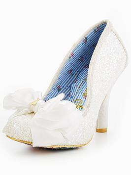 Irregular Choice Ascot Glitter Wedding Court Shoe