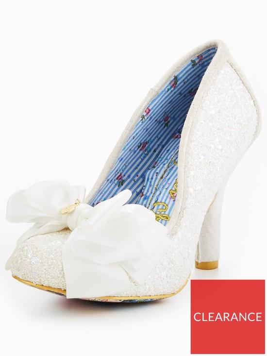 4eb8290d041ae Irregular Choice Ascot Glitter Wedding Court Shoe