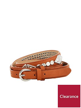 v-by-very-western-stud-detail-belt-tan