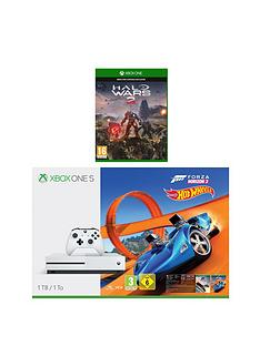 xbox-one-s-1tb-console-with-forza-horizon-3-hot-wheels-halo-wars-2-and-extra-controller