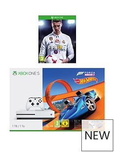 xbox-one-s-1tbnbspconsole-with-forza-horizon-3-hot-wheels-and-fifanbsp18nbspplus-optional-extra-controller-andor-12-months-playstation-network