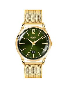 henry-london-chiswick-green-dial-gold-bracelet-mens-watch