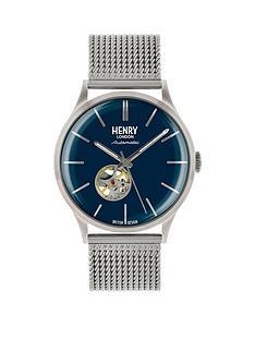 henry-london-automatic-blue-dial-silver-bracelet-mens-watch