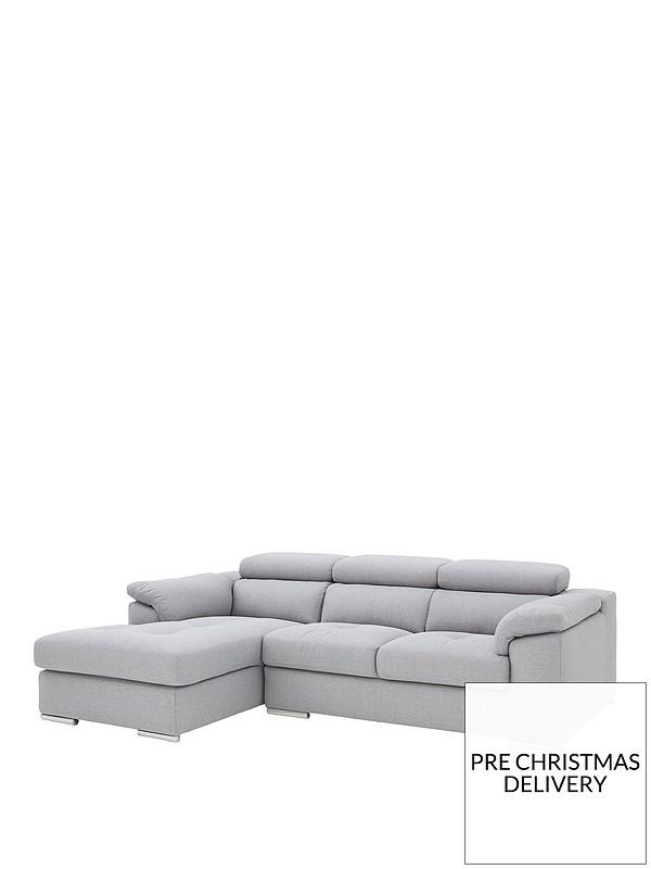Stupendous Brady 3 Seater Left Hand Fabric Corner Chaise Sofa Machost Co Dining Chair Design Ideas Machostcouk
