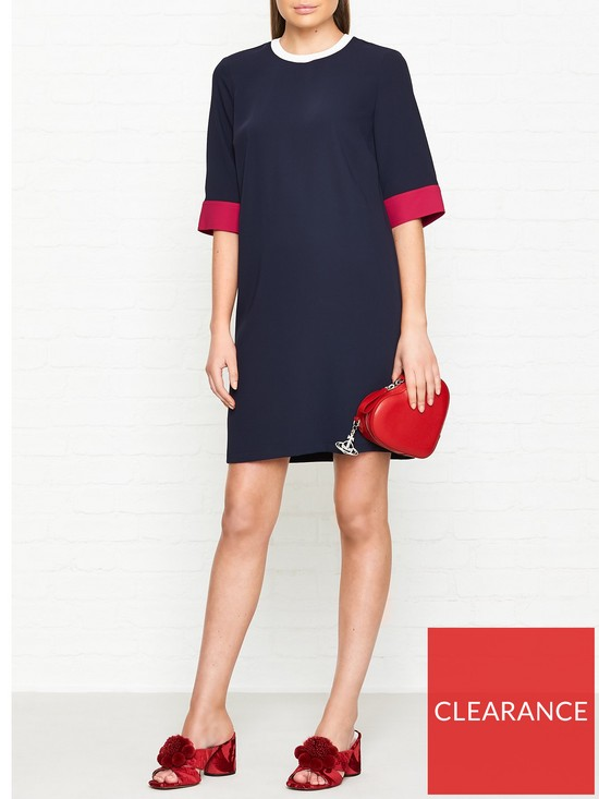 2d9392bfbc0 Tommy Hilfiger Marcy Short Sleeve Shift Dress - Navy | very.co.uk