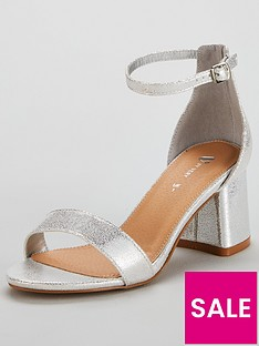 7282eca5a22 V by Very Emeli Wide Fit Block Heel Sandal