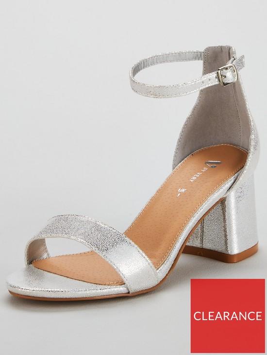 507761473f0 V by Very Emeli Wide Fit Block Heel Sandal