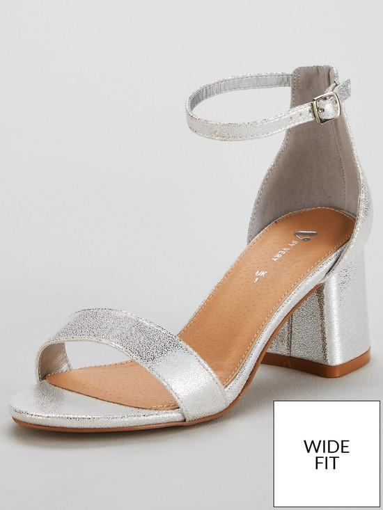 22f478c3de1 Emeli Wide Fit Block Heel Sandal