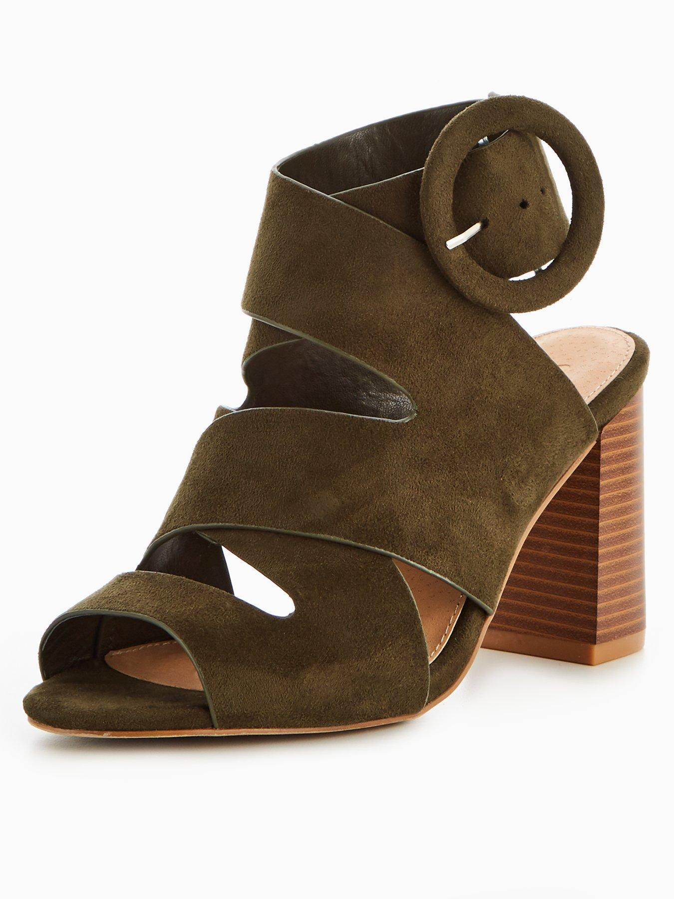 V by Very Ora Wide Fit Strappy Block Heel Sandal