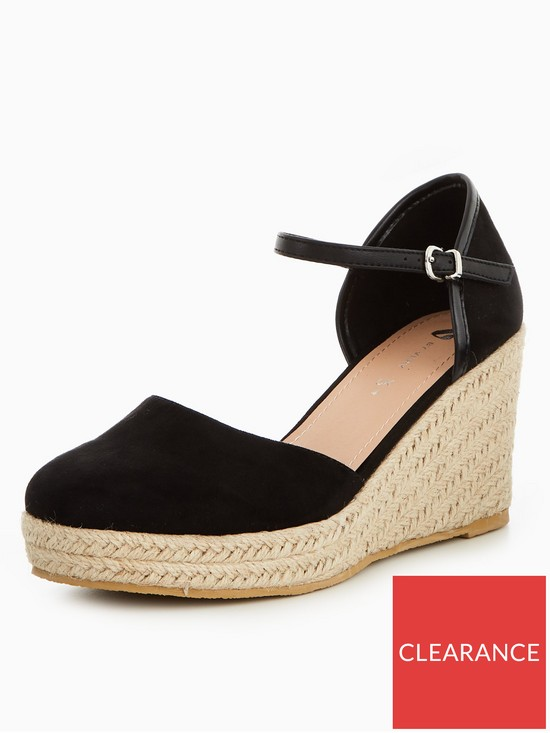 3c2c710d083 V by Very Pollyanne Closed Toe Wedge - Black