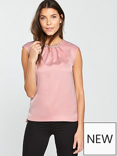 ted-baker-camble-folded-pearl-neck-sleeveless-top-pink