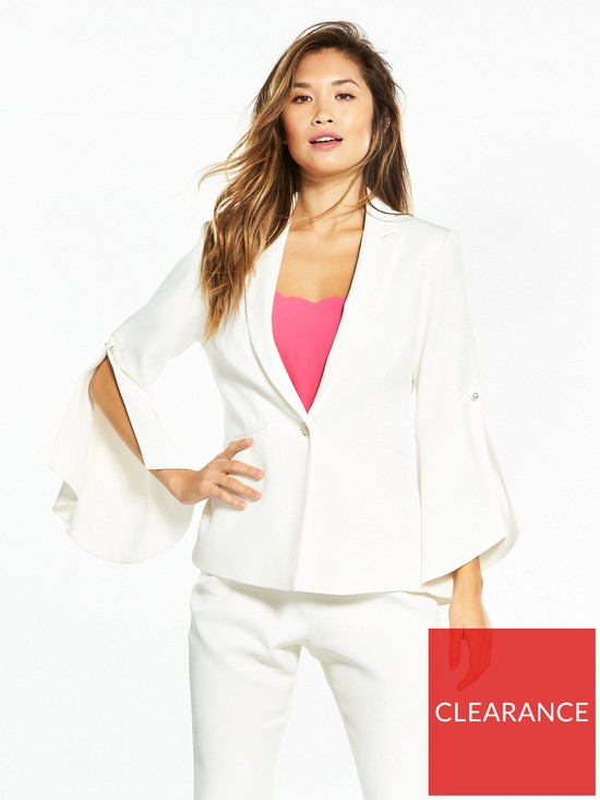 2ca80a51b Ted Baker Lalya Pearl Detail Bell Sleeve Suit Blazer