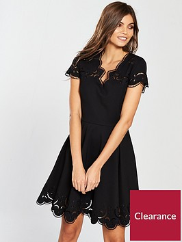ted-baker-saloane-v-neck-embroidered-skater-dress