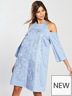 ted-baker-jettas-cut-out-shoulder-cotton-dress-baby-blue