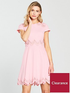 84cdb3431f8b Ted Baker Rehanna Embroidered Cap Skater Dress - Pink
