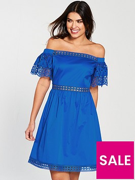 ted-baker-loulah-a-line-geo-lace-cotton-dress-bright-bluenbsp