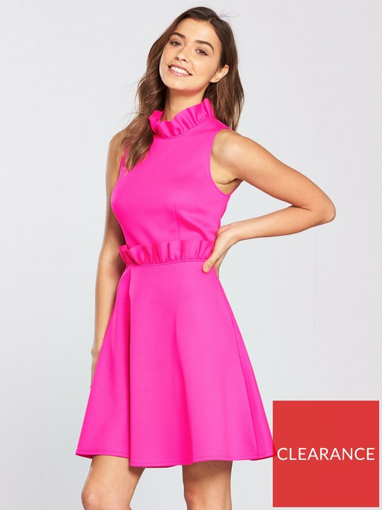 7b081923aa465b Ted Baker Janein Ruffle Waist Dress - Neon Pink