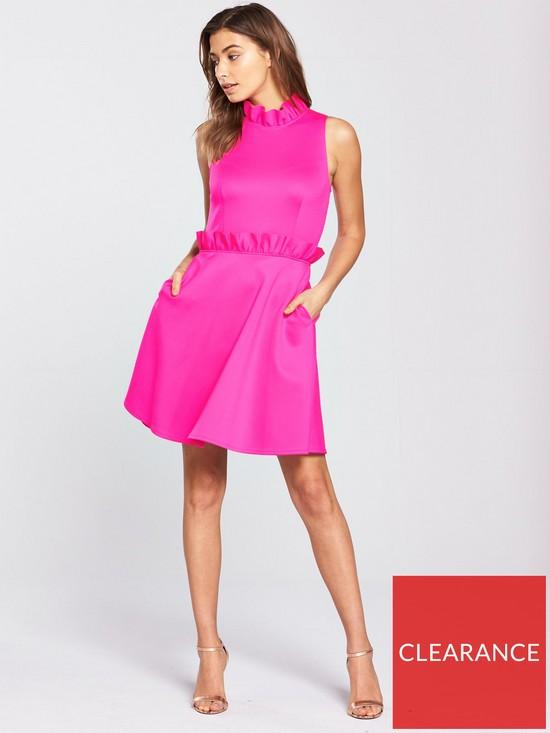 c368aabfbb65a5 ... Ted Baker Janein Ruffle Waist Dress - Neon Pink. View larger