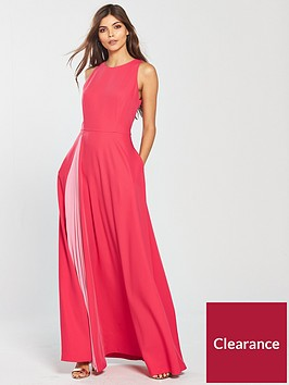 ted-baker-madizon-contrast-pleat-maxi-dress-deep-pink