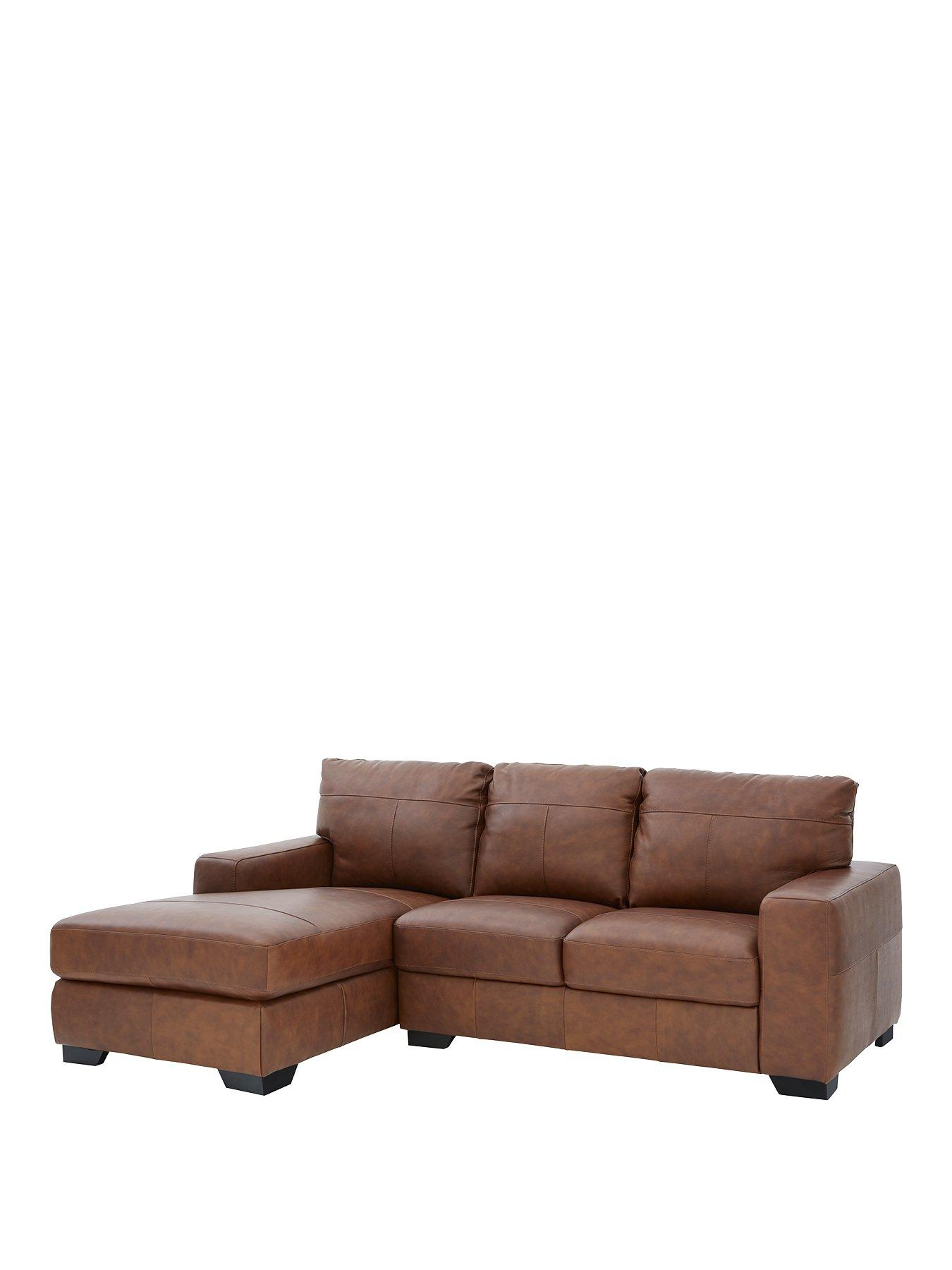 Hampshire 3 Seater Left Hand Premium Leather Corner Chaise Sofa