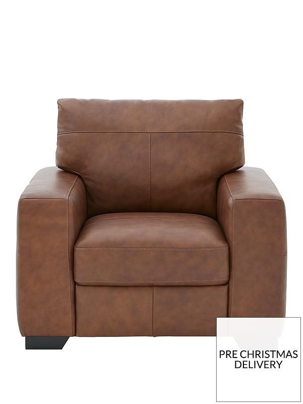 Hampshire Italian Leather Armchair