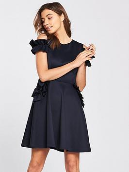 ted-baker-denesse-ruffle-detail-dress-navy