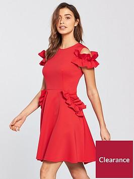 ted-baker-denesse-ruffle-detail-dress-bright-rednbsp