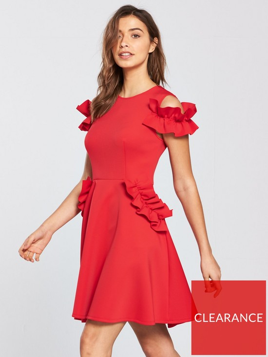 6673b0cec14a7 Ted Baker Denesse Ruffle Detail Dress - Bright Red
