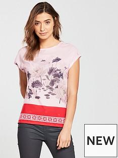ted-baker-jennay-lake-of-dreams-woven-t-shirt-pink