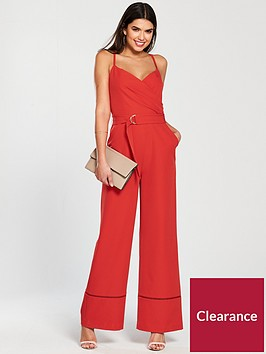ted-baker-lissa-strappy-wrap-front-jumpsuit-bright-red