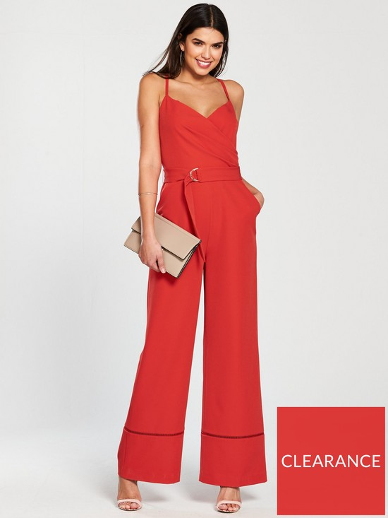 bdd848a2d5bd Ted Baker Lissa Strappy Wrap Front Jumpsuit - Bright Red