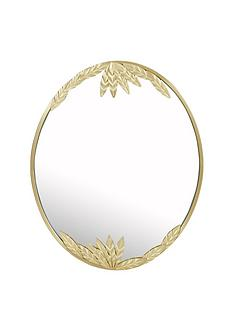 tropical-leaves-oval-mirror