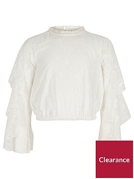 river-island-girls-white-floral-lace-tiered-sleeve-top