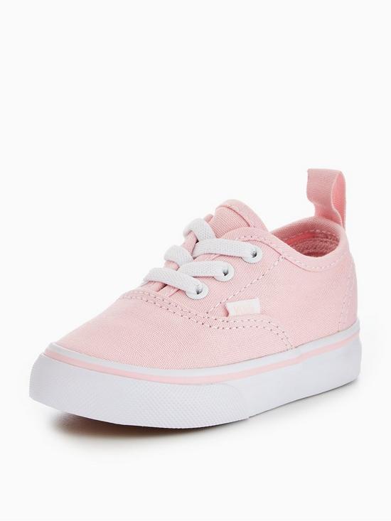 c1fd2c3368 Vans TD Authentic Elastic Lace Infant Trainer - Pink White
