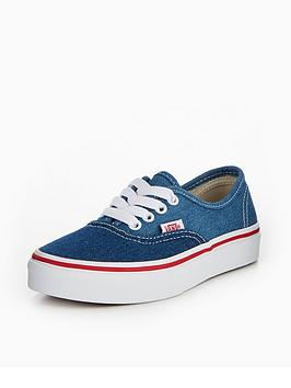 vans-vans-uy-authentic-denim-2-tone-childrens-trainer